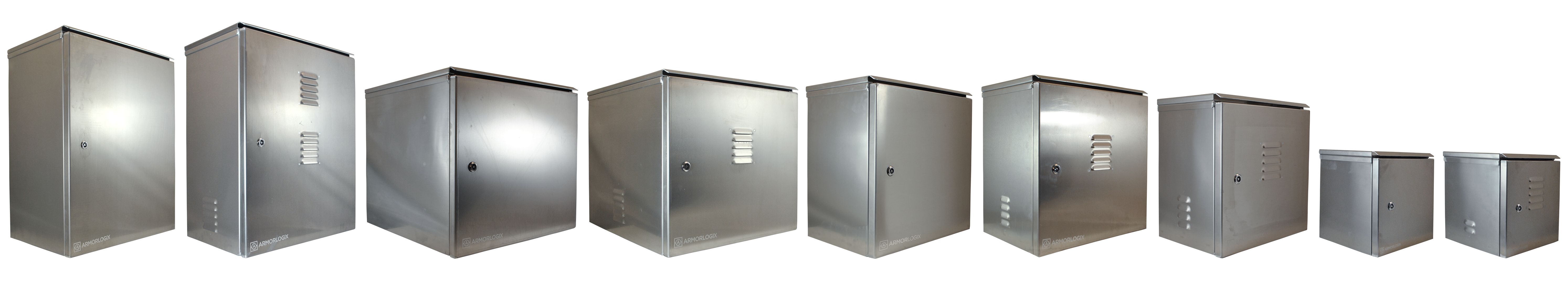 ArmorLogix marine grade aluminum enclosure product line up