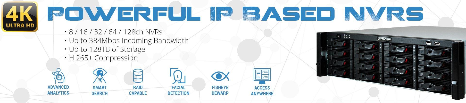 Powerful IP Based NVRs