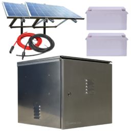 200W Pole Mount Solar Solution with 300Ah