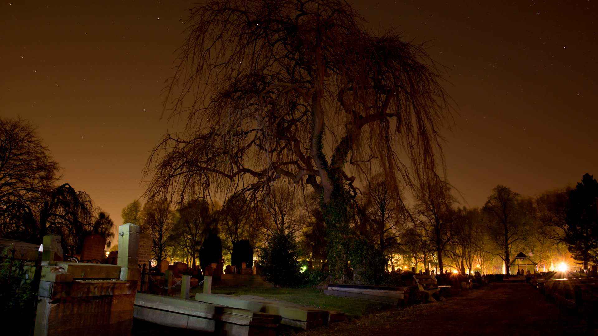 cemetery-dark-graveyard-orange
