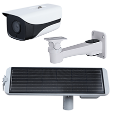 Solar Powered Outdoor IP Network Camera with Edge Recording