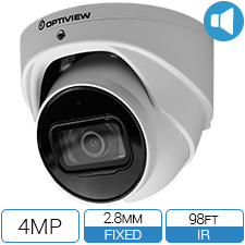 4 MP IP Armor Ball Camera with Built in Mic and SD Card slot