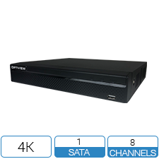 4K HD 8 Channel DVR with Face Detection and Motion Detection