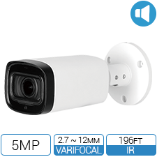 5 Megapixel HD Bullet Camera with Motorized Zoom