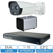 High Volume High Efficiency Human Temperature Detection & Notification System