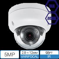 TAA NDAA Compliant 5 Megapixel IP Armor Dome with Motorized Zoom