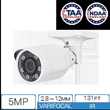 5MP NDAA TAA compliant IP bullet camera