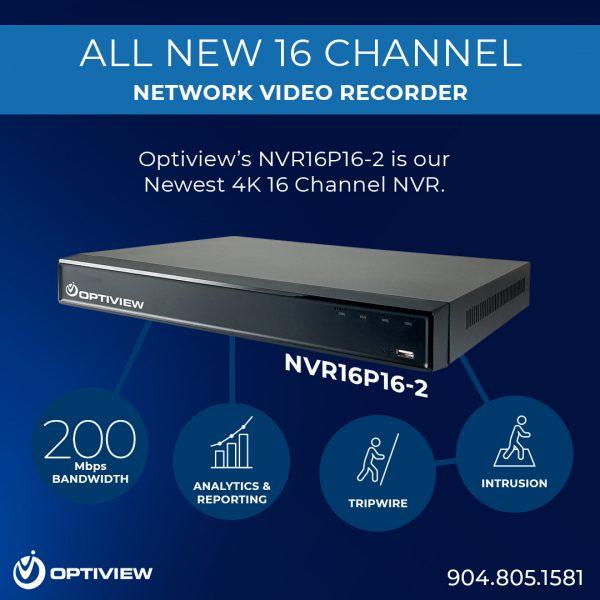 NVR16P16-2 - New 16 Channel 4K NVR