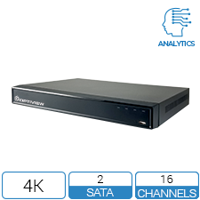 16 channel 4K DVR with Analytics