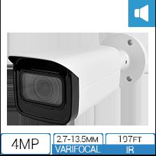 IP4MIBC-212-ZA - Bullet IP Camera with Motorized Zoom & Mic - thumbnail