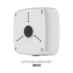 IP4MIBC-212-ZA - Bullet IP Camera with Motorized Zoom & Mic - Optional JB122