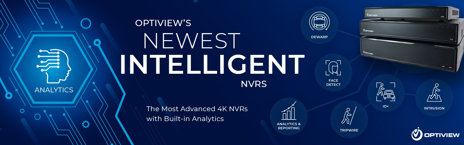 Intelligent NVR from Optiview with Analytics and Fisheye Dewarp