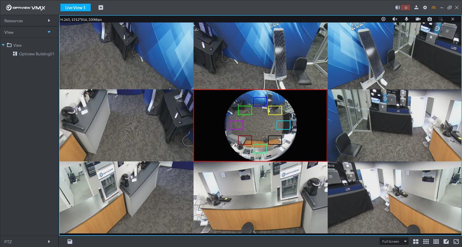 Dewarp Fisheye cameras in live view and playback