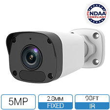 IP5MIBC-28-SDA-NCV - 5MP SD Card Mini Fixed Bullet Network Camera with Built-In Mic