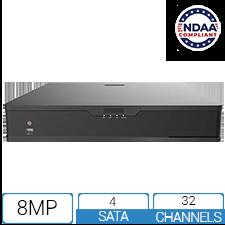 NVR32P164K-4-NCV - 32 Channel / 16 PoE 4K NDAA Compliant NVR