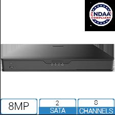 NVR8P84K-2-NCV - 8 Channel / 8 PoE 4K NDAA Compliant NVR