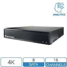 16ch 4K DVR with dual NIC and 80tb storage