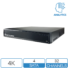 32 Channel 4K DVR with up to 40 TB of Storage