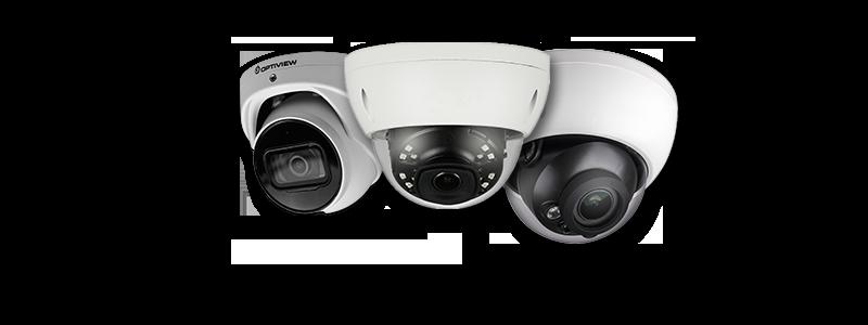Optiview Armor Balls and enclosed Armor Dome cameras