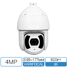 4MP IP PTZ with Starlight IR, Intelligent Motion Detect and Perimeter Protection