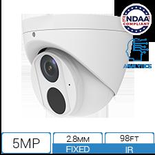 5MP NDAA Compliant IP Camera with AI and Low Light Illumination