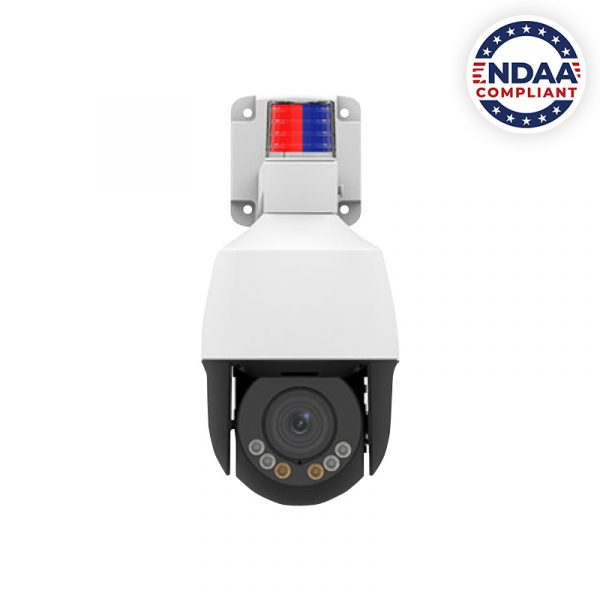 NDAA Compliant IP PTZ with Active Deterrence