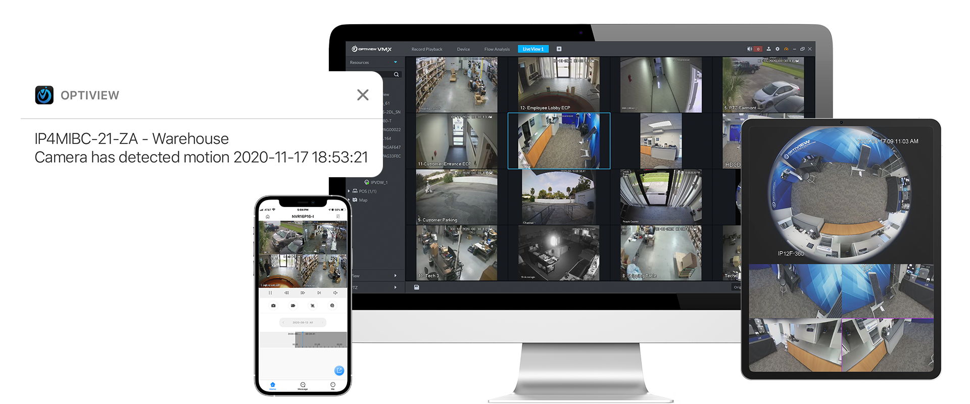 Access Anywhere with Optiview Remote Monitoring Software
